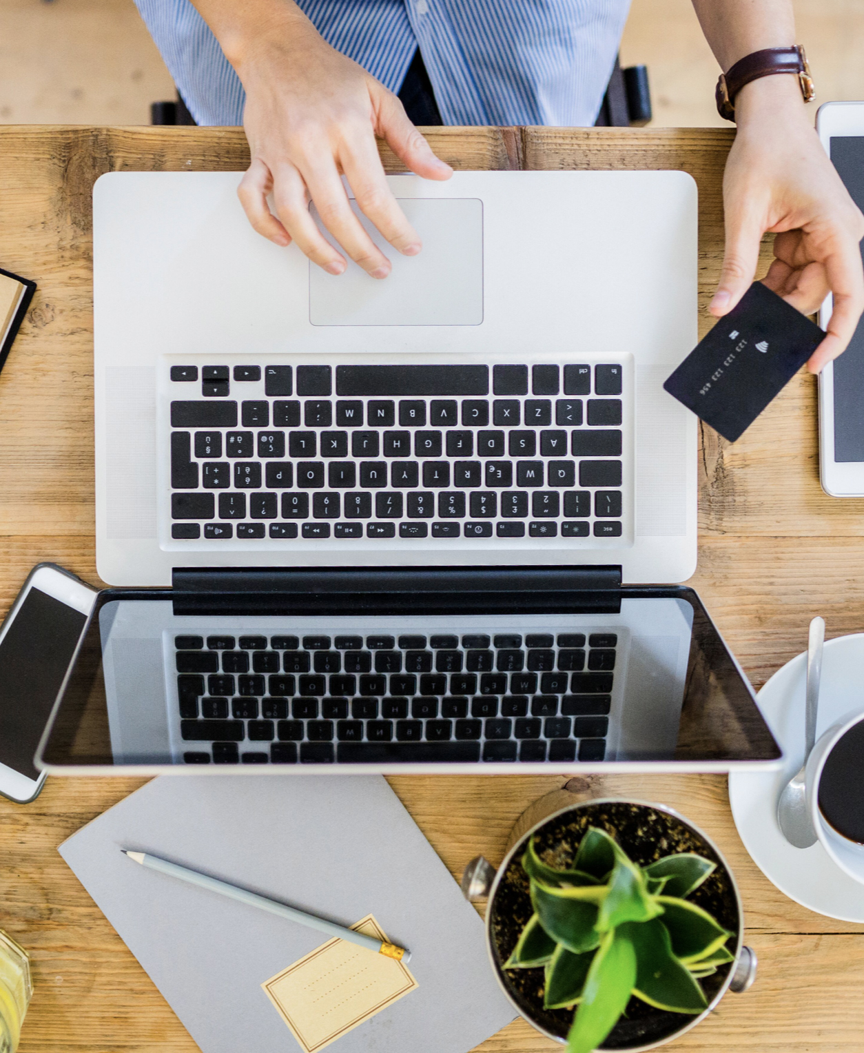 Digitally banking with a card
