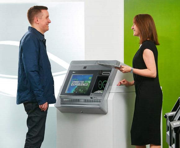 install and deploy banking man woman atm