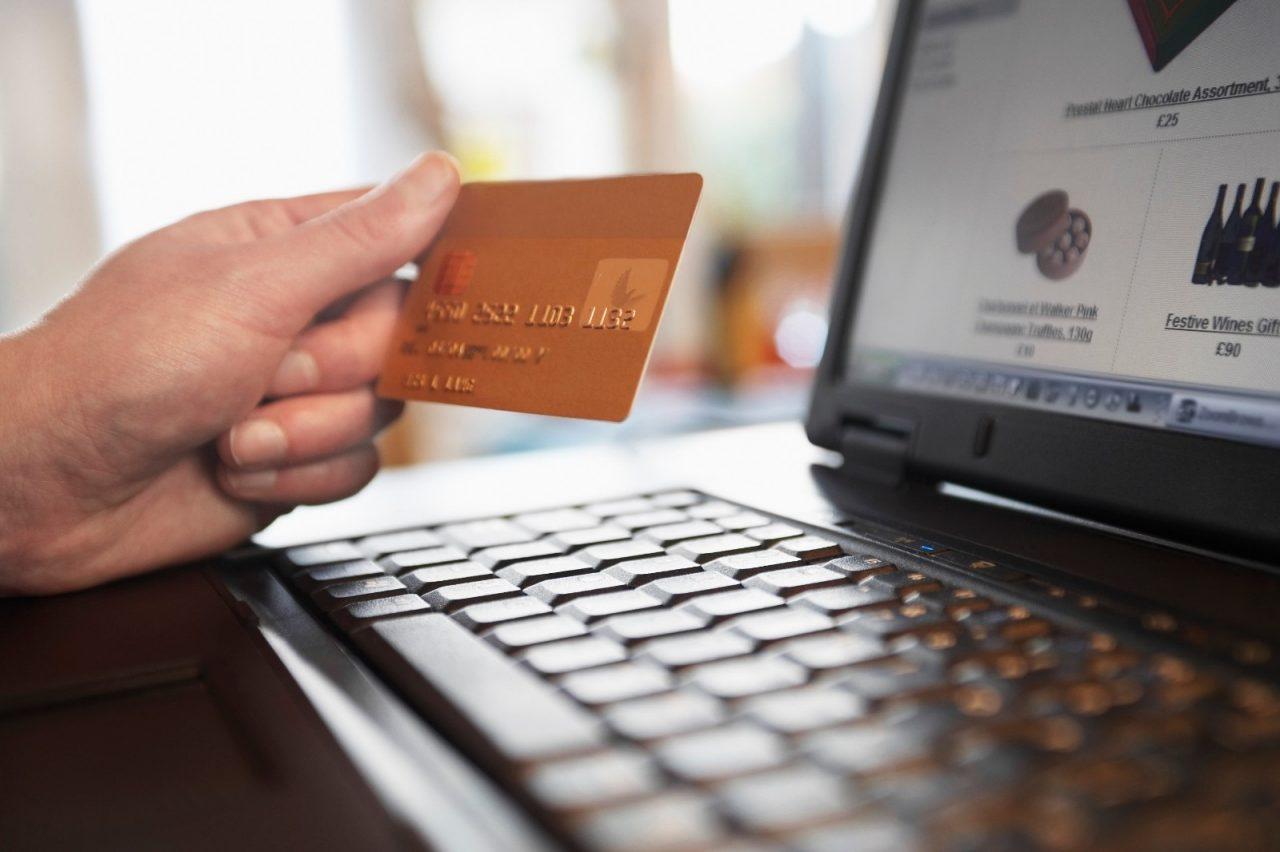 Man Shopping on Internet