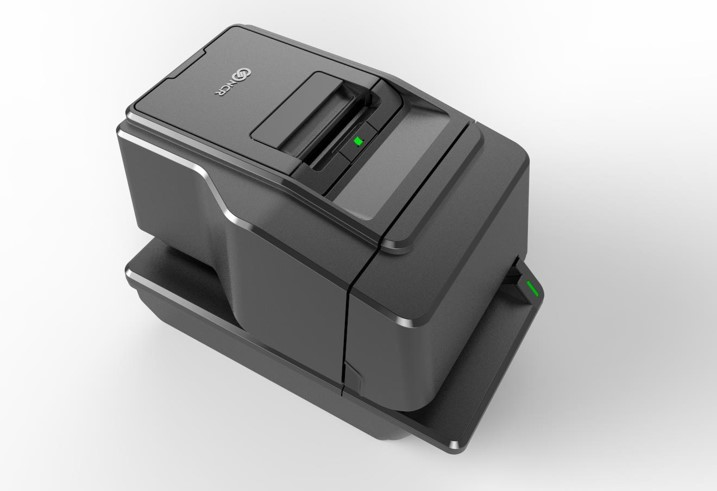 NCR 7169 POS printer viewed from top left
