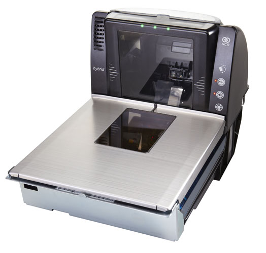 Front right view of NCR 7878 Scanner Hybrid