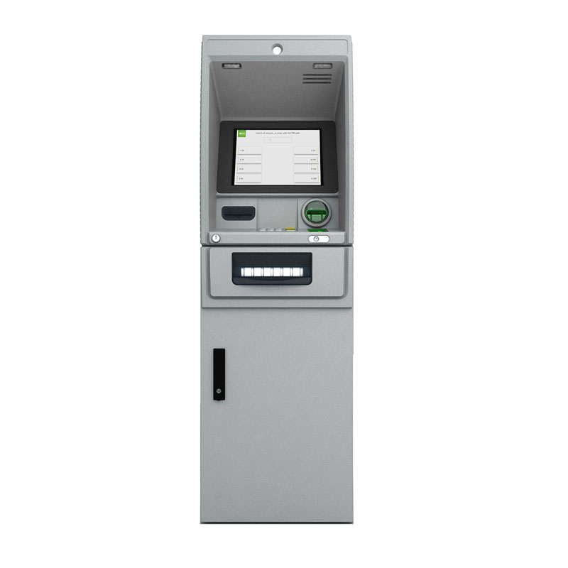 Front view of the  NCR SelfServ 28 cash dispense ATM
