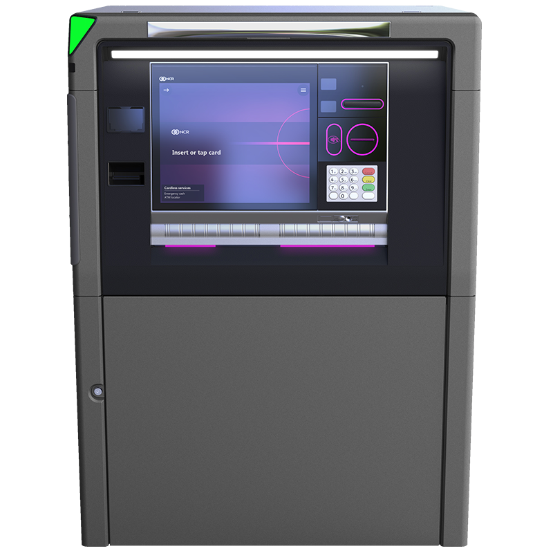 Front view of NCR SelfServ 88 - Exterior Island Multi-Function Drive-Up ATM & ITM