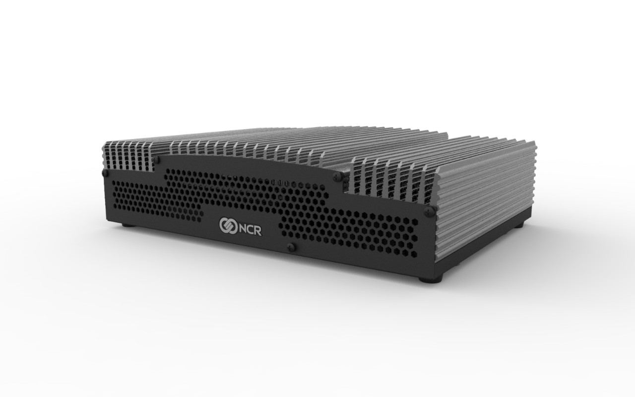 Front and side view NCR N4000 server