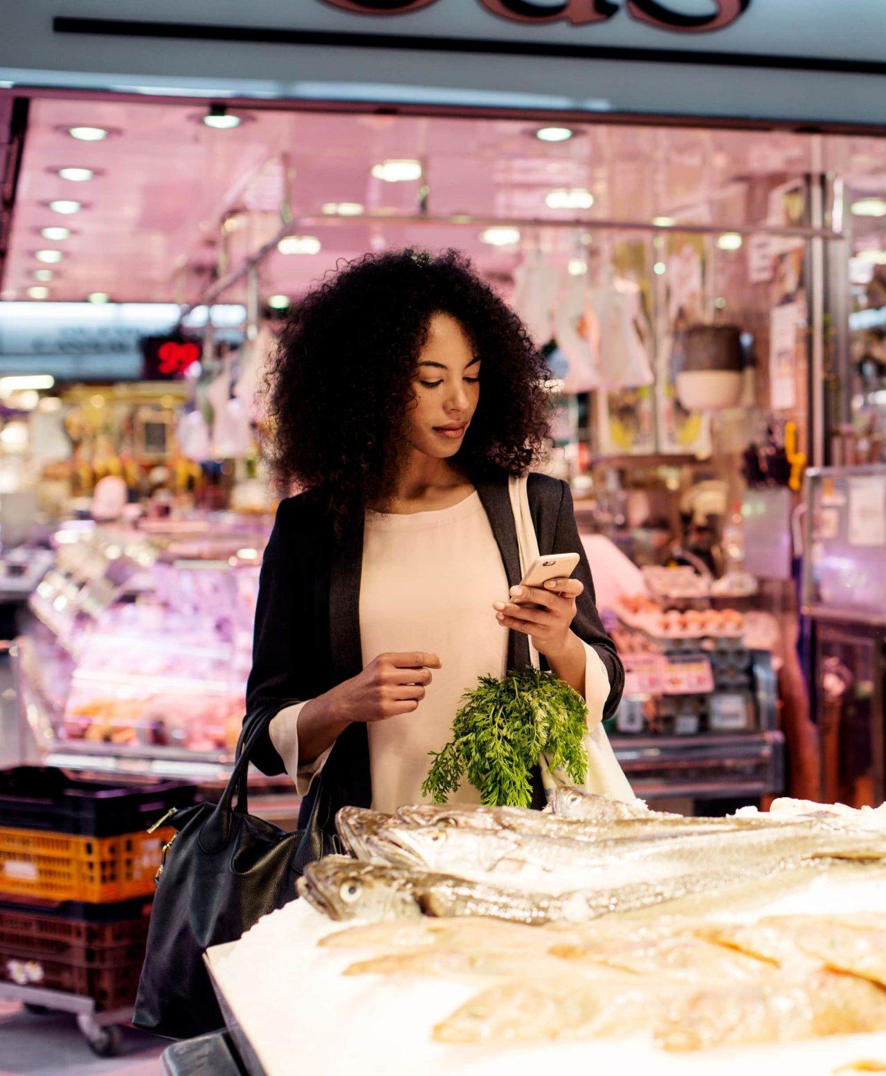 Woman taken a payment