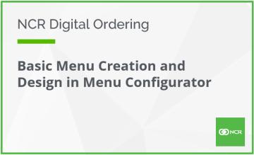 Basic Menu Creation and Design in Menu Configurator