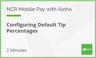 Configuring Default Tip Percentages