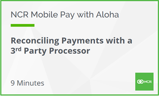 Reconcilling Payments with a 3rd Party Processor