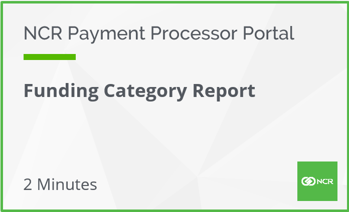 Funding Category Report
